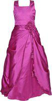 Alisha Moda Indi Girls Maxi/Full Length Party Dress(Purple, Sleeveless)