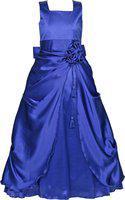 Alisha Moda Indi Girls Maxi/Full Length Party Dress(Blue, Sleeveless)