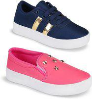 Aura Combo of 2 for Women & Girl Casuals For Women(Blue, Pink)