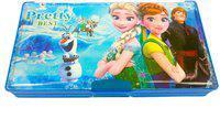 Funcart Magnetic jumbo pencil box Frozen Art Plastic Pencil Box(Set of 1, Blue)