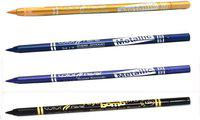Color Fever Soft And Smooth Metallic Pencil Eyeliners Set Of 4Pcs A7 8 g(Golden, Navy Blue, Purple, Black)