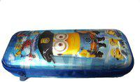 Funcart Minion Pencil box pouch with 3D character Art Plastic Pencil Box(Set of 1, Blue)