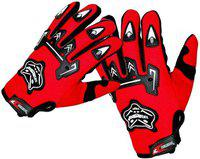 Knighthood Biker Driving Cycling Riding Driving Gloves(Red)