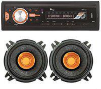 myTVS TMP-53 Single Din MP3 Car Media Player + SCDC41, 4 inch Dual Cone Car Speakers 180W Car Stereo(Single Din)
