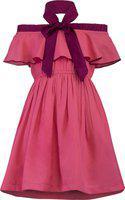 Stylo Bug Girls Midi/Knee Length Party Dress(Pink, Sleeveless)