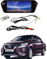 RWT Car 7 inch LED Car Video Monitor With Night Vision Camera Black LED(17.5 cm)