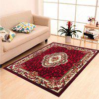 Arsalan Red Polypropylene Carpet(180 cm X 240 cm)