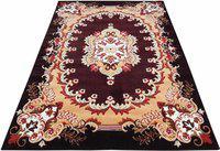Arsalan Maroon Polypropylene Carpet(180 cm X 240 cm)