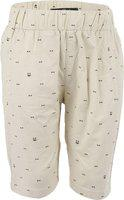 One Friday Short For Boys Casual Self Design Cotton Blend(Beige, Pack of 1)