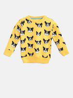 Lazy Shark Full Sleeve Printed Girls Sweatshirt