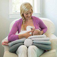 Babymoon Multifunction Elevate Adjustable Nursing Pillow Infant Feeding Support (Grey) Nursing Breast Pad(Pack of 6)