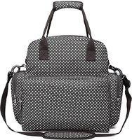 Futurekart Waterproof Diaper Bag Travel Bag Multifunctional Mother Bag Baby Bag (Black) Diaper Bag Dispenser(1 Bags)