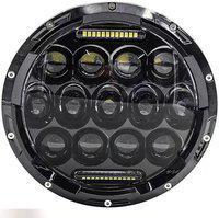 AK Art LED Headlight For Universal For Bike Universal For Bike, Bullet 350, Bullet Electra, Thar, Jeep