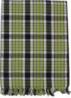 Saagar Tex Checkered Double AC Blanket(Cotton, Green)