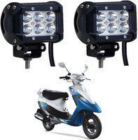 Riderscart Headlight, Fog Lamp LED for TVS(Universal For Bike, Pack of 2)