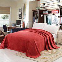 Chic Home Plain Double Coral Blanket(100% Wool, Red)
