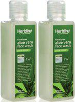 Herbline Aloevera Face Wash 100ml-Pack Of-2 Face Wash(100 ml)