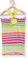 EIMOIE Baby Girl's Striped Regular fit T-Shirt (2354_Yellow_18-24 Months)