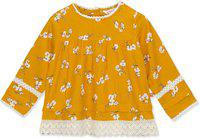 Budding Bees Girls Casual Cotton Rayon Blend A-line Top(Yellow, Pack of 1)