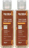 Herbline Tan Clear Face Wash 200ml Pack Of-2 Face Wash(200 ml)