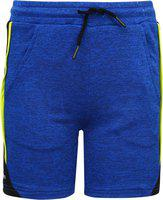 Monte Carlo Short For Boys Casual Solid Polycotton(Blue, Pack of 1)