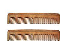 Osking Pack of 2 Anti Hair-Fall Neem Wood Hair Comb Hand made Anti-Dandruff Comb, For Men & Women Model No.2 (Pack of 2)