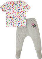 Quancious Baby Boys & Baby Girls Casual T-shirt Pyjama(Multicolor)