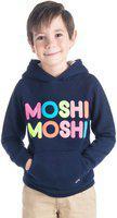 Cherry Crumble California Moshi Sweatshirt for Kids Full Sleeves (Navy Blue, 18-24 Months)