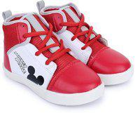 Mickey Boy's Sneakers-10 Kids UK/India (28 EU) (MMPBCS1217,White)