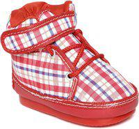CHUTPUT Boys & Girls Lace Casual Boots(Red)