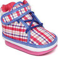 CHUTPUT Boys & Girls Lace Casual Boots(Pink)