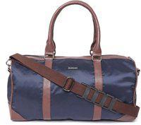 Bad Habit Unisex Navy & Tan Brown Duffel Bag Gym Bag(multicolor)