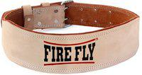 Firefly Tan Leather Weight Lifting Belt for Men's Gym Fitness Back & Abdomen Support(Beige)