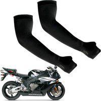Ak Art Cotton Arm Sleeve For Men & Women(XL, Black)