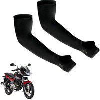 Ak Art Cotton Arm Sleeve For Men & Women(M, Black)
