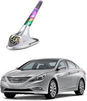 Mizzeo A631540 Wind Powered LED Light Car Antenna Silver A631540 Wind Powered LED Light Car Antenna Silver Whip Vehicle Antenna