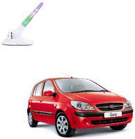 Mizzeo A631112 Wind Powered LED Light Car Antenna White A631112 Wind Powered LED Light Car Antenna White Whip Vehicle Antenna