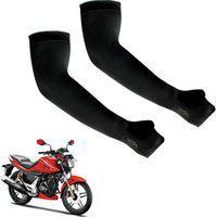 Ak Art Cotton Arm Sleeve For Men & Women(L, Black)