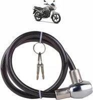 AdroitZ Plastic, Steel Cable Lock For Helmet