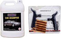 indopower CAR SHAMPOO 5ltr+ Tubelass smart Panchar Kit. Car Washing Liquid(5000 ml)