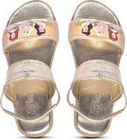 Disney Girls Velcro Sports Sandals(Gold)