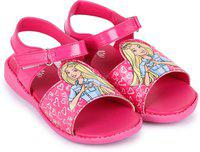 Barbie Girls Velcro Sports Sandals(Pink)