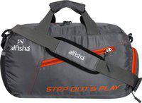 alfisha (Expandable) gym sports duffel bag with shoe compartment Gym Bag(Grey)