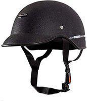 GTB UNISEX Black mini wrinkle HELMET CAP Motorbike Helmet Motorbike Helmet(Black)