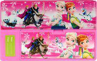 Aarvi Frozen Catton Character Print Art Plastic Pencil Box(Set of 1, Pink)