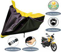 Autyle Two Wheeler Cover for Hero(Passion Pro, Black, Yellow)