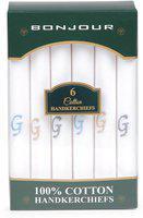 Bonjour Men's Handkerchief (pack Of 6)(bro5800-po6-a_assorted_free)