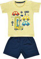 Kiwi Boys Casual T-shirt Shorts(Yellow)