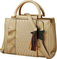 Mark & Keith Women Gold Messenger Bag