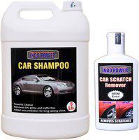 indopower CAR SHAMPOO 5ltr+ Scratch Remover 200gm. Car Washing Liquid(5200 ml)